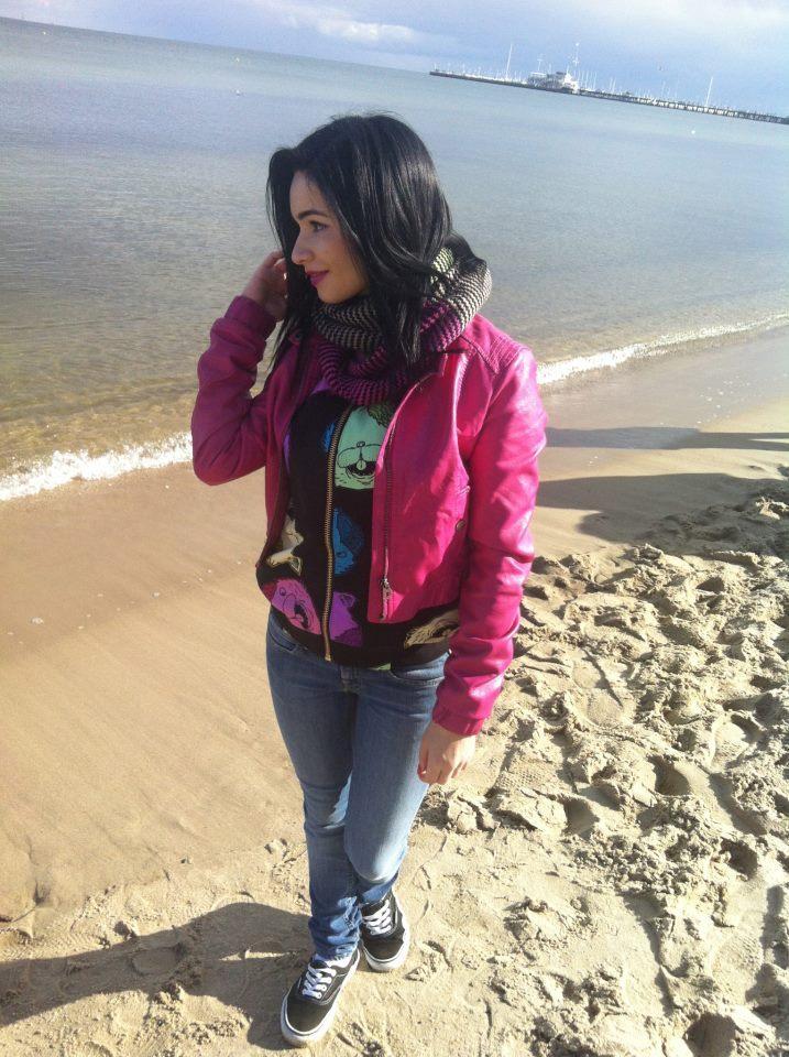 Ewelina na plaży